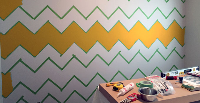 How To Paint A Chevron Pattern Stunning How To Paint A Chevron Pattern
