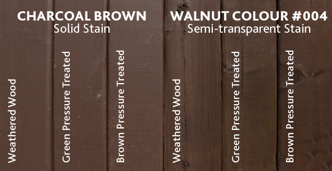 Main Stains Solid Vs Semitransparent
